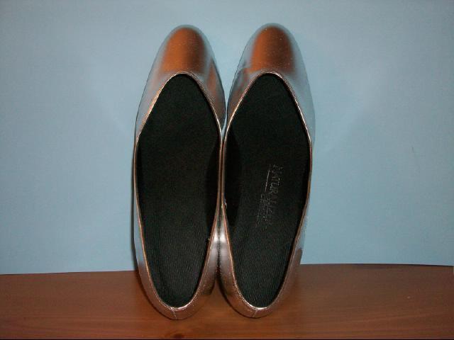 Metallic Silver Naturalizer Wedge Shoe - Size 10M