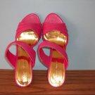 Pierre Dumas Pink Open Toe Heels - Size 8M