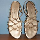 Kim Rogers Gold Color Flat Sandals Size 8 1/2 - 9