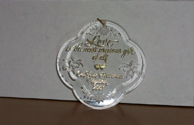"Hallmark Keepsake Ornament - ""Our First Christmas Together"" 2001"