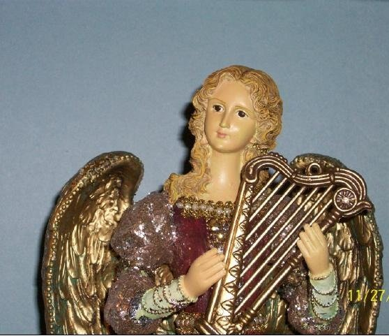"""Hand Painted Resin 14"""" Angel"""