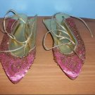 Naughty Monkey Beaded Pink Flats - Size 8 1/2