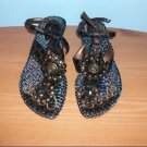 Pretty Brand Heeled Thong Sandals - Size 8