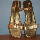 Susan Lucci Gold Color Sandals - Size 9M