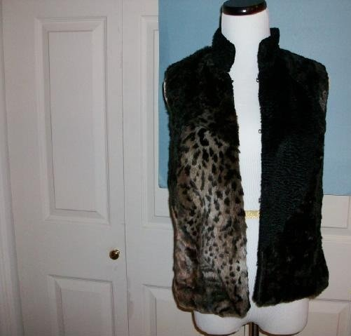 Multi-fur (faux)  Wraps Vest - Size Small