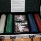Poker Set in Silver Aluminum Case