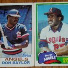 Lot of 2 Topps Don Baylor Cards #415, 580 1981 1982