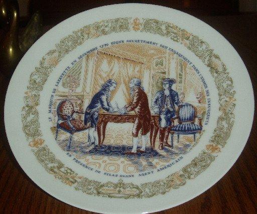 1973 D'Arceau Limoges Secret Contract Collector Plate