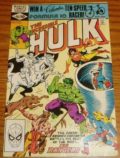 Marvel Comics The Incredible Hulk #265 1981 The Rangers