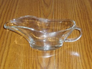 Anchor Hocking 10 Ounce Clear Glass Gravy Boat