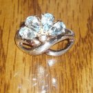 .925 Steling Silver 2.00 Carat Topaz Ring Size 7