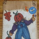 Pumpkin Scarecrow Wooden Plaque Halloweeen Fall Decor
