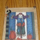 Hand Crafted Wooden Scarecrow Plaque Halloween Fall