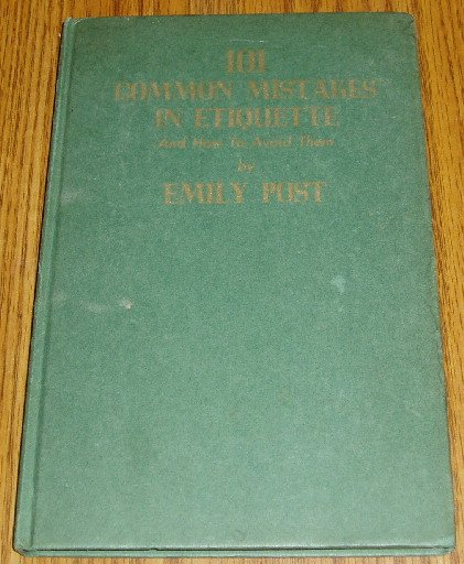 1939 Printing Emily Post Common Mistakes Etiquette Book