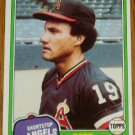 1981 MLB Topps #410 Bert Campaneris Califonia Angels