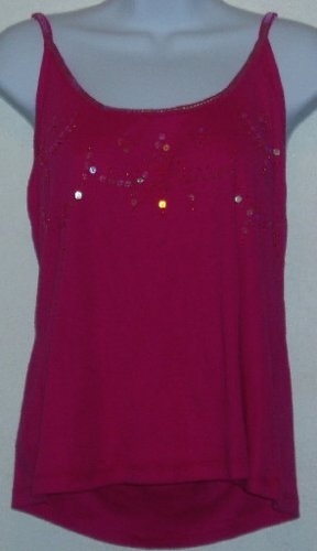 NWT i.e. relaxed Pink Sequined Tank Top Size Petite XL