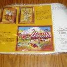 NIP Creative Circle Stamped Cross Stitch Kit Floral #0232