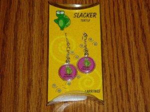 Slacker Turtle Not My Problem Novelty Dangle Earrings