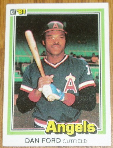 1981 MLB Donruss Dan Ford California Angels Card #54