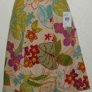 NWT Izod Tropical Print Skirt Size 14 Petite 100% Cotton