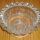 Lattice Edge Etched Glass Pedestal Base Glass Bowl/Dish