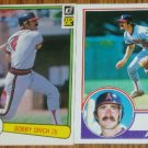 Lot of 2 Bob Grich Angels Cards Donruss & Topps MLB