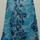 NWT Valarie Stevens Blue Floral Silk Skirt Size 18W