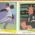 Lot of 2 Donruss Dave Frost Cards #52, 290 1981 1982
