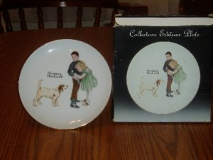 Norman Rockwell Collectors Edition Plate Big Brother With Box