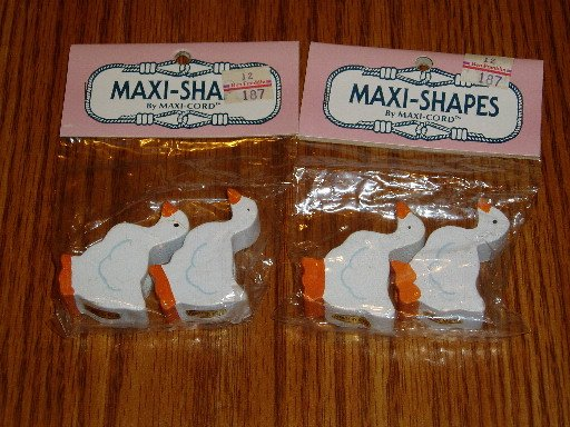 Maxi-Shapes by Maxi-Cord Macrame/Craft Beads Ducks NIP