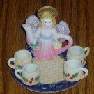 Holly Angel Miniature Tea Set Christmas/Holiday Decor