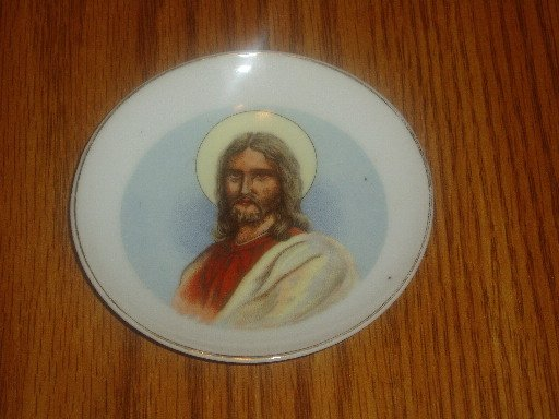 Small Decorative Hanging Plate Jesus Christ Home Decor