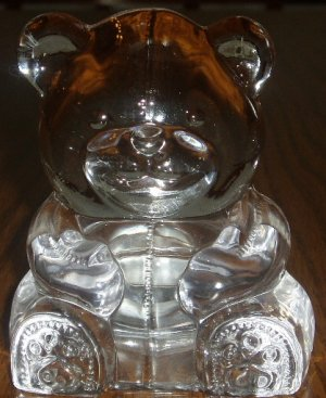 PartyLite Crystal Teddy Bear Tealight Candle Holder