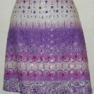 Exact Change Junior's Size 9 Purple Embroidered Skirt