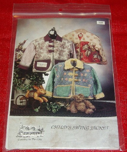 Country In The City Child's Swing Jacket Pattern New
