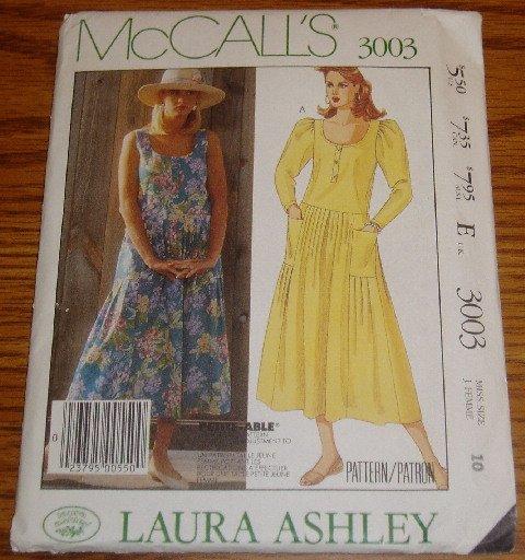 Uncut McCall's Laura Ashley Dress Pattern Sz 10 #3003