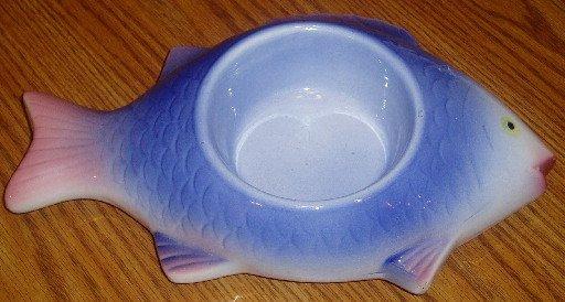 Doggiduds Fish Shaped Cat Feline Feeder/Food Dish