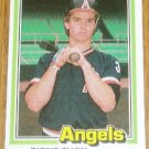 1981 MLB Donruss Dickie Thon California Angels Card #290