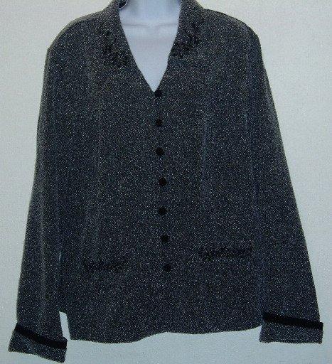 Melissa Harper M.H.M. Woman Gray Jacket/Top Size 18W