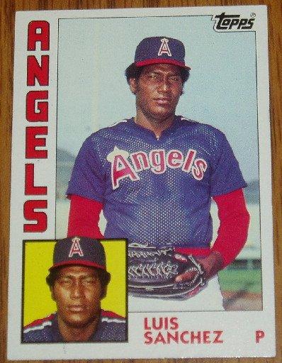 1984 MLB Topps Card #258 Luis Sanchez California Angels