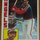 1984 MLB Topps Card #236 Ellis Valentine California Angels