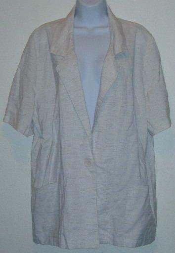 Joanna Tan Jacket Blazer Short Sleeve Size XL