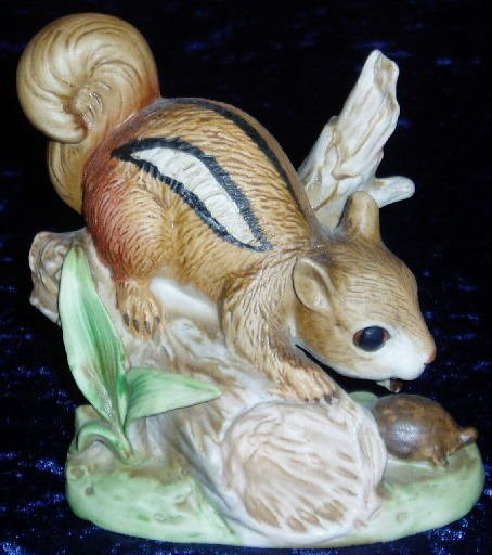 HOMCO Chipmunk and Turtle Collectible Figurine #8882