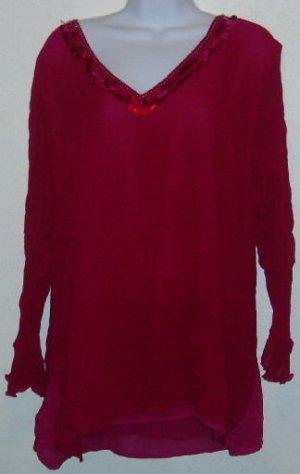 Purple Sheer Long Sleeve Avenue Blouse Shirt Size 18 20