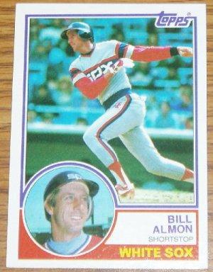 1983 MLB Topps Bill Almon Chicago White Sox Card #362