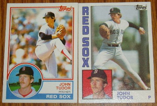 Lot of 2 MLB Topps John Tudor Cards #318, 601 1983 1984