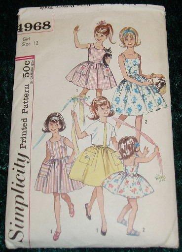 Vintage Simplicity Girl's Dress & Jacket Pattern Size 12