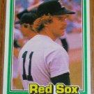 1981 MLB Donruss Dave Stapleton Card #544 Red Sox