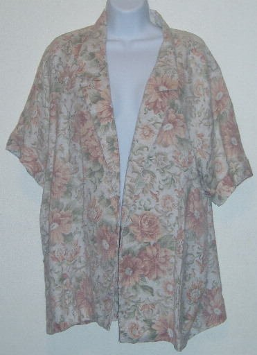 Joanna Plus Short Sleeve Floral Jacket Blazer Size 20W