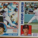 Lot of 2 MLB Topps Jerry Remy Cards #295, 445 1983 1984